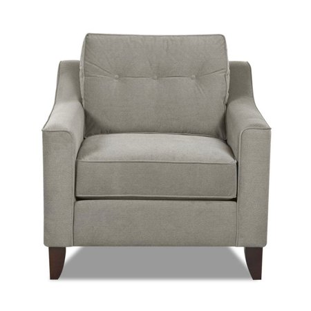 Klaussner Furniture Made to Order Klaussner Audrina Wood Chair with Grey Upholstery