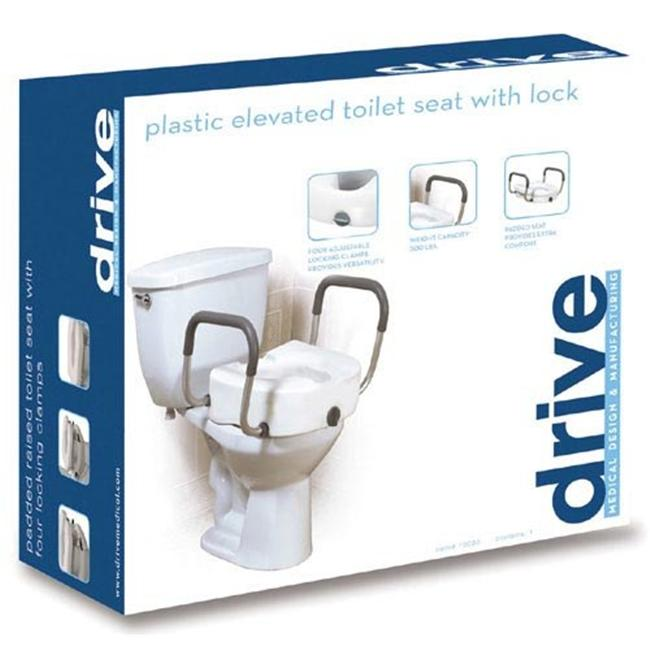 Complete Medical 1152C Raised Toilet Seat with Lock and Plastic Arms