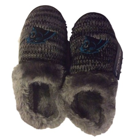 Image of Carolina Panthers Womens Peak Slide Slippers
