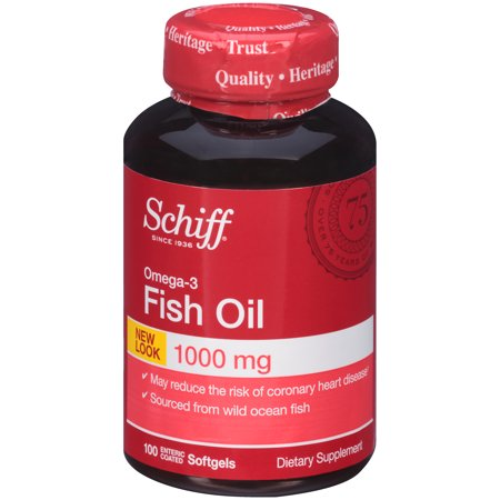 Schiff omega 3 fish oil supplement 1000 mg 100 count for Cla vs fish oil