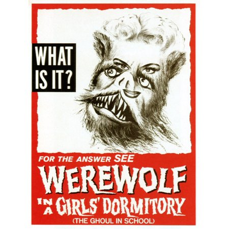Werewolf In A Girls Dormitory 1961 Movie Poster Masterprint