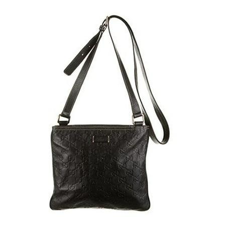 12e594b2e1c432 Gucci - Gucci Duffle Luggage GG Supreme Carry On Bag Black Signature GG  Leather New - Walmart.com