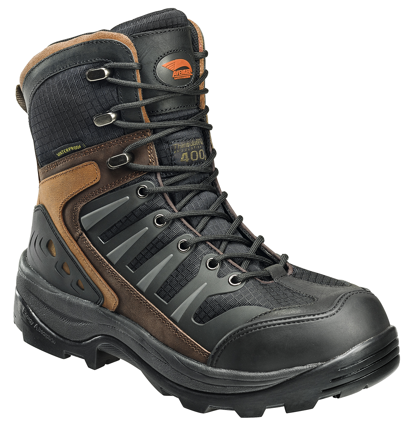 "Avenger Men's 7275 8"" Waterproof EH Comp Toe Work Boot"
