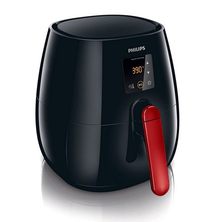 Philips Viva Collection Hd9230 06 Digital Airfryer Oven  Black Red Refurb
