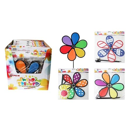 Diamond Visions Max Force 11-1211 Flower Wind Spinner MultiPack in Assorted Designs (2 Wind Spinners)