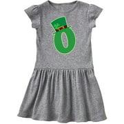 Irish St Patricks Day Letter O Monogram Toddler Dress