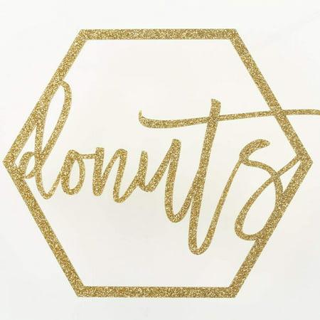 Koyal Wholesale Gold Party Sign Donuts Bar Sign, Gold Glitter Banner, Wedding Display (Donuts,