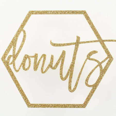 Koyal Wholesale Gold Party Sign Donuts Bar Sign, Gold Glitter Banner, Wedding Display (Donuts, - Custom Wedding Banners