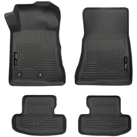Husky Liners Front & 2nd Seat Floor Liners Fits 15-18 Mustang Black Second Seat Floor Liners