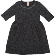 Girls' Elbow Sleeve Hacci Dress