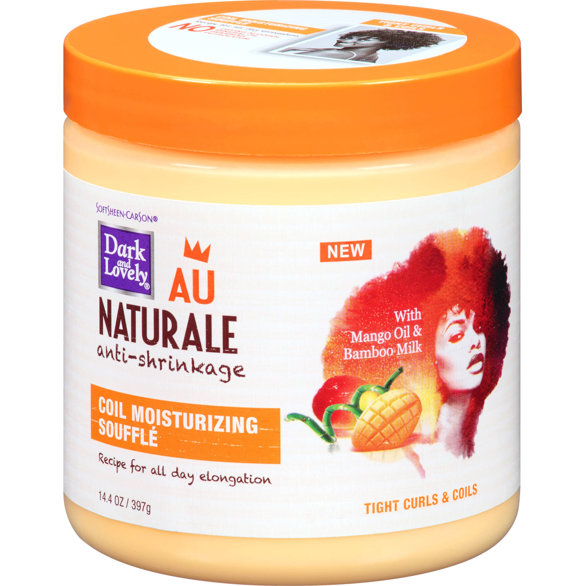 Dark & Lovely Au Naturale Anti-Shrinkage Coil Moisturizing Souffle, 14.4 oz