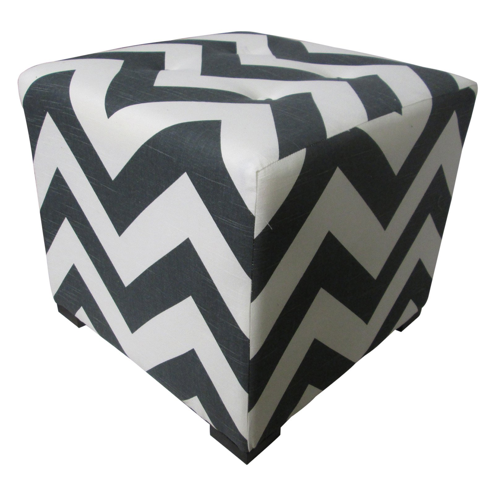 Sole Designs Merton Collection Chevron Upholstered Ottoman