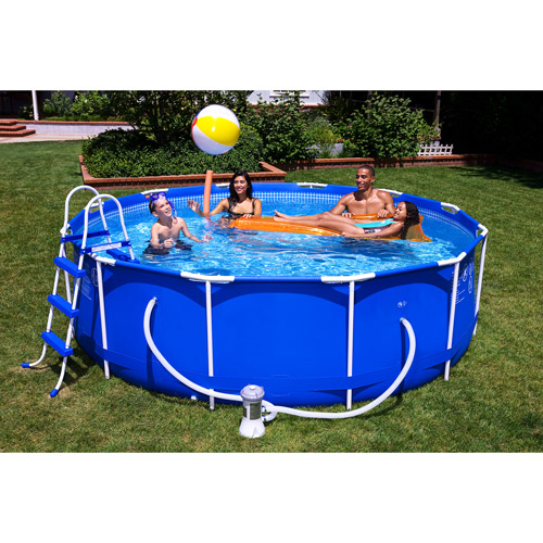 Intex 12 39 x 39 metal frame above ground swimming pool - Walmart above ground swimming pools ...