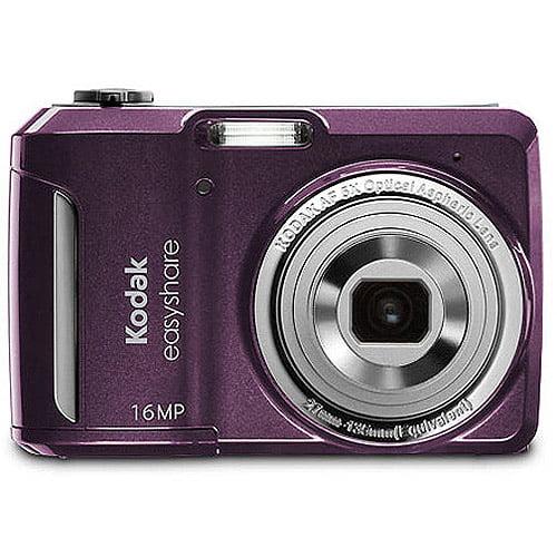 "Kodak EasyShare Camera C1550 Purple 16MP Digital Camera with 5x Optical Zoom, 3"" LCD, Face Detection"