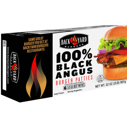 Backyard Burger Feedback back yard burgers black angus burger patties, 2 lbs - walmart
