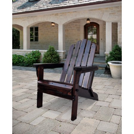 Shine Company Marina Adirondack Folding Chair - Burnt Brown - Brown Adirondack Chair
