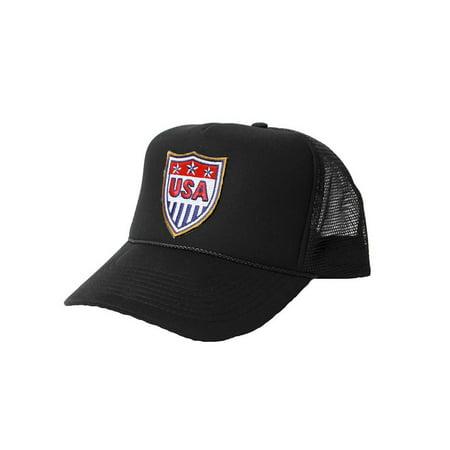 18286aa19c1 USA Patriotic National Trucker Hat Black - Walmart.com
