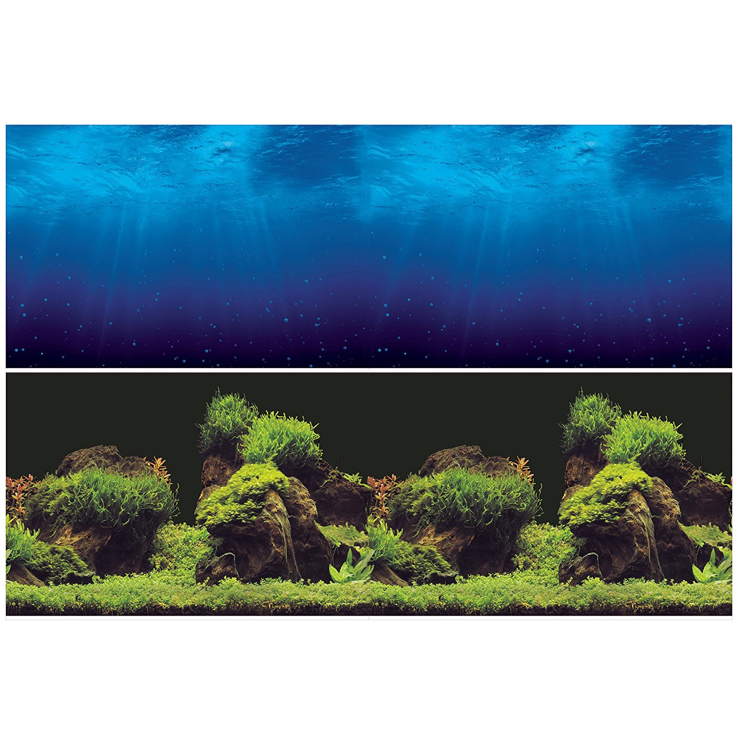 """Aquarium Background Double sides (Deep Sea Water Plants) (82""""W X 24""""H), Double sided- One side... by"""