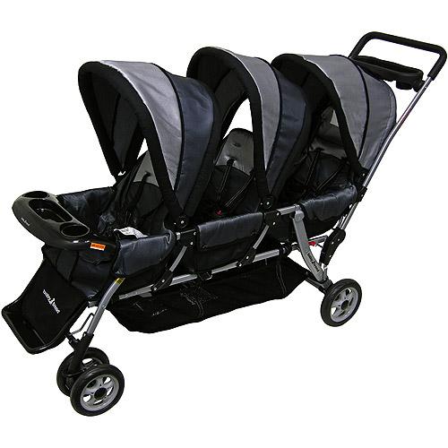 Baby Trend Triplet Stroller Black Walmart Com