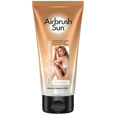 Sally Hansen Airbrush Sun Gradual Tanning Lotion, Light to Medium, 6 -