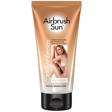 Bronze Gradual Self Tanning Lotion - Sally Hansen Airbrush Sun Gradual Tanning Lotion, Light to Medium, 6 oz