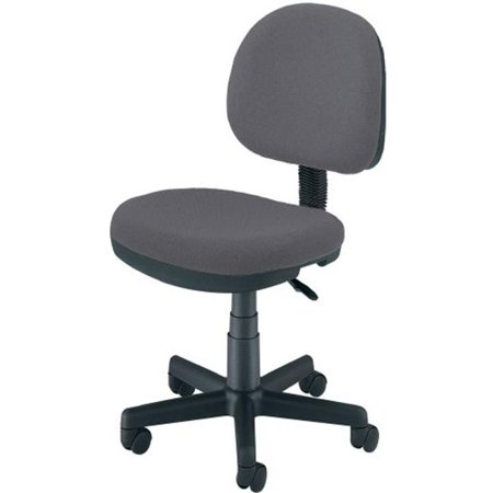 OFM 150 DK 128 Lite Use Computer Task Chair With Drafting Kit Dark Gray Wal
