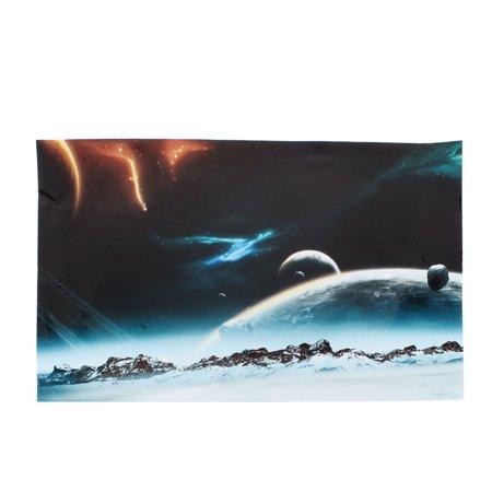Meteorite Glass Accessory (Unique Bargains Meteorites Print Sticker Protective Skin Decal Dark Blue for 15.6