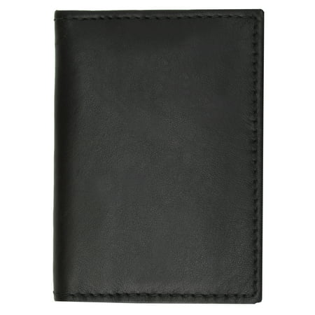 Slim Leather Lambskin Credit Card ID Mini Thin Wallet Holder Bifold 69 (C) Brown Billfold Credit Card Holders