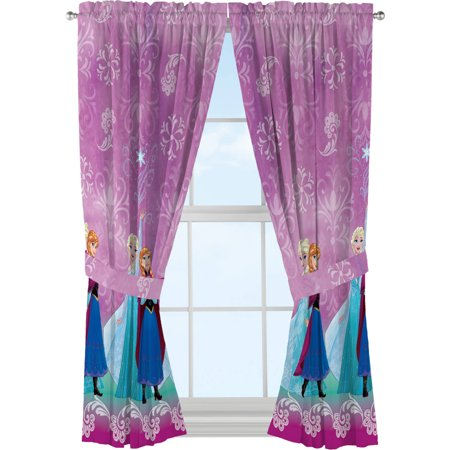 Disneys Frozen Kids Bedroom Curtain Panel Set, Set of 2, 63-inch L