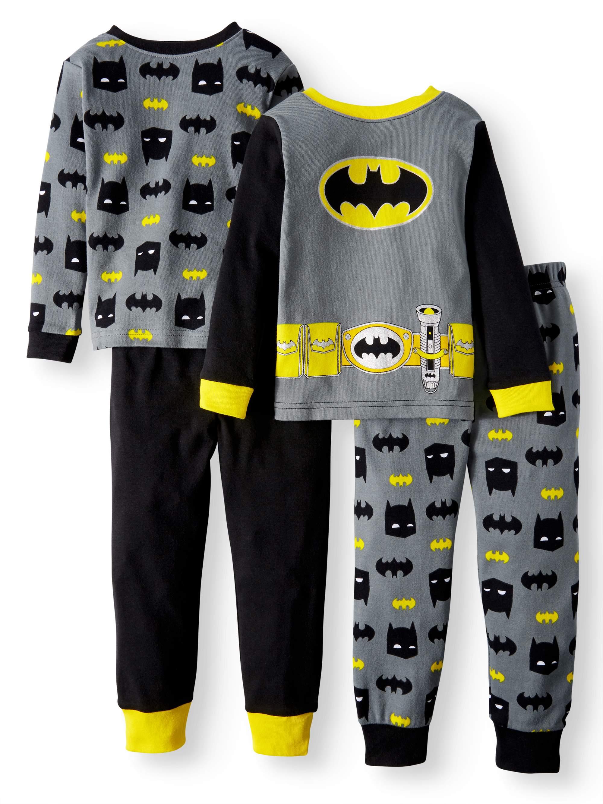 Cotton Tight Fit Pajamas, 4-piece Set (Toddler Boys)