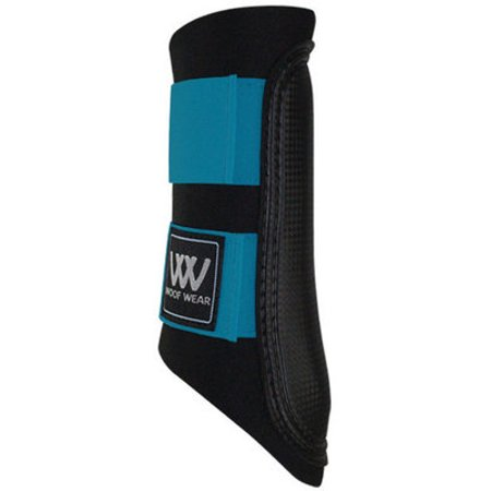 Wear Double Lock Brushing Boot - Woof Wear Sport Brushing Boots, Medium - Black Turquoise
