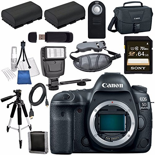 Canon EOS 5D Mark IV DSLR Camera (Body Only) 1483C002 + L...
