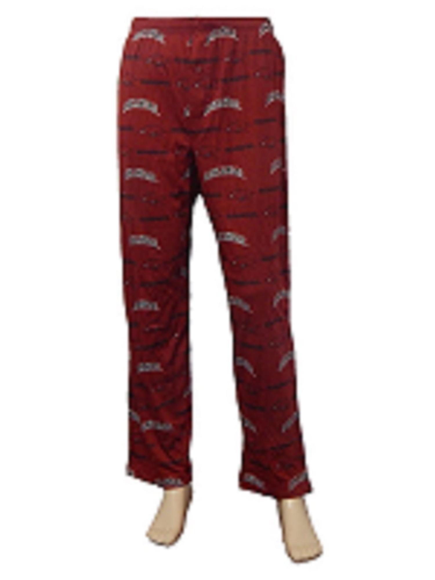 NCAA ARKANSAS RAZORBACKS All-Over-Print Logo Lounge Pajama Sleep Pants (Medium)