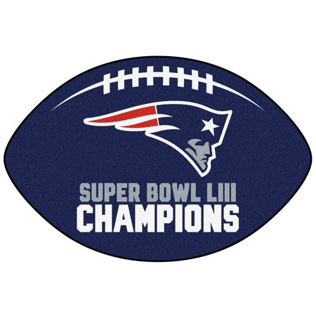 New England Patriots Super Bowl LIII Champions Football Mat - No Size