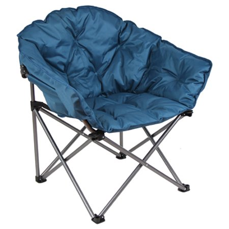 - Club Chair, Steel Frame, Padded Seat