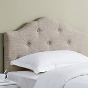 Mainstays Minimal Tufted Rounded Headboard, Twin, Beige