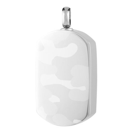 Perfect Memorials Camouflage Dog Tag Stainless Steel Cremation - Camouflage Jewelry