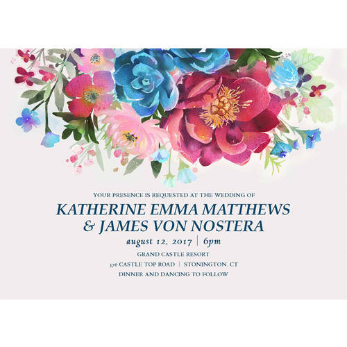 Woodland Floral Standard Wedding Invitation