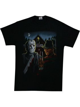 be8af2b2c892 Product Image Freddy Krueger And Jason Men's American Gothic Parody T-Shirt  Black