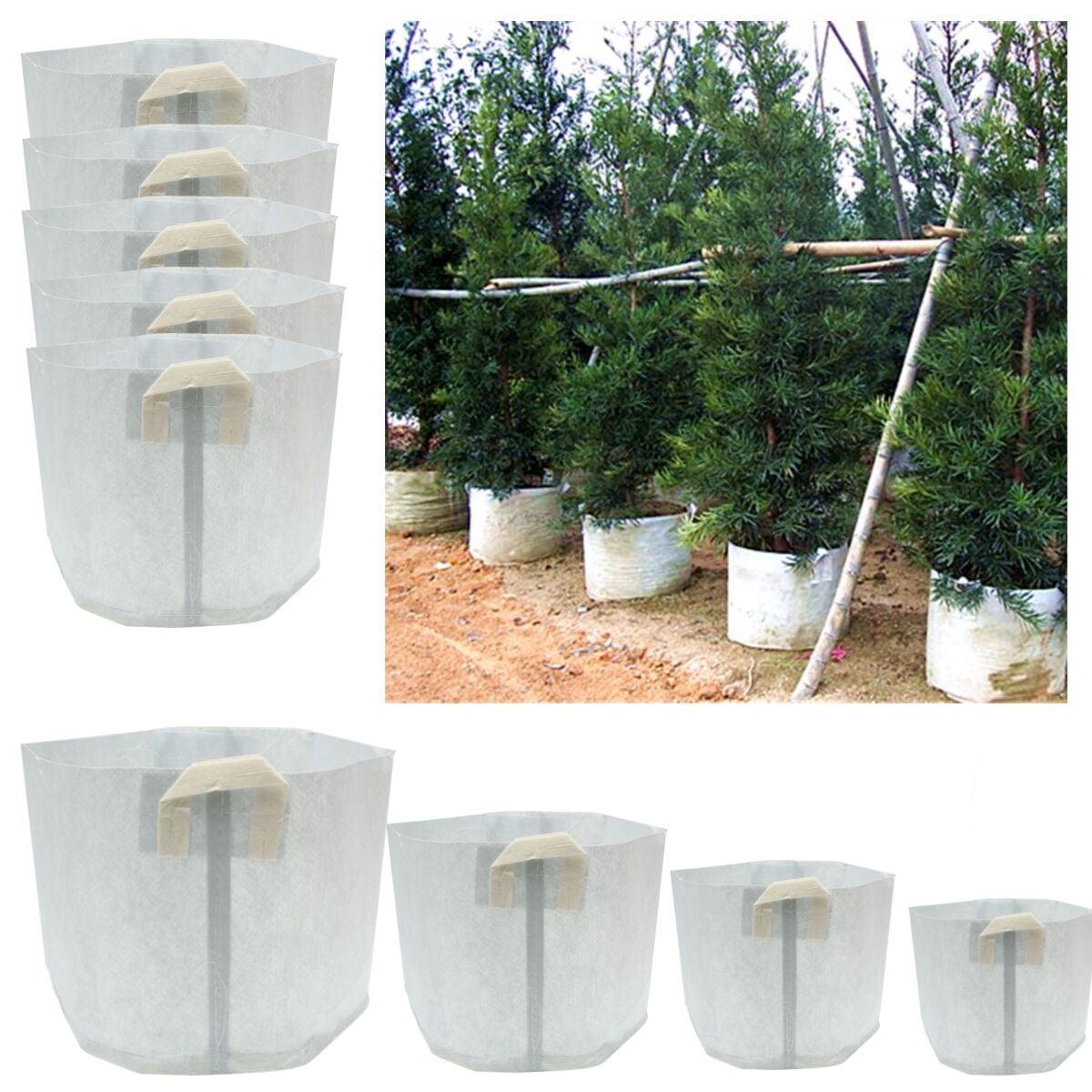 Meigar 5 Packs Fabric Grow Bags 15 50 80 Gallon Smart Pots Container Garden