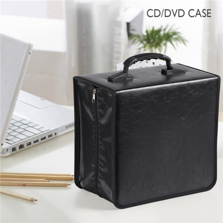 Yaheetech 400 Disc CD DVD Bluray Storage Holder Solution Binder Sleeves Carrying Case