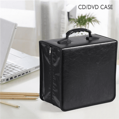 Acrylic Cd Holder - Yaheetech 400 Disc CD DVD Bluray Storage Holder Solution Binder Sleeves Carrying Case