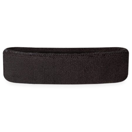 - Suddora Head Sweatbands - Athletic Cotton Terry Cloth Headbands for Sports (Black)