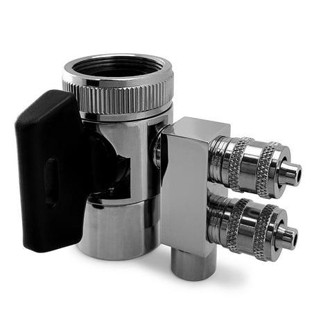 Express Water Undersink Chrome 2 Way Faucet Adapter Diverter Valve Counter Top / Reverse Osmosis RO Water Filter System - PRTDV2