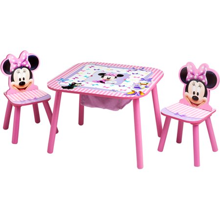 Disney Minnie Mouse Storage Table and Chairs Set. Disney Minnie Mouse Bedroom Set with BONUS Toy Organizer   Walmart com