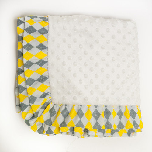 Pam Grace Creations Argyle Giraffe Blanket
