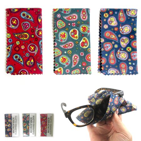3 Microfiber Cloth Cleaning Glasses Sunglasses Camera Lens LCD Screen Cellphone Lcd Camera Lens