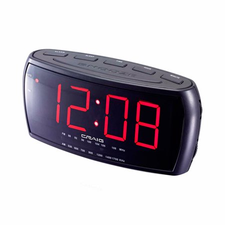 craig electronics cr41803 1 8 inch dual alarm clock digital pll am fm radio. Black Bedroom Furniture Sets. Home Design Ideas