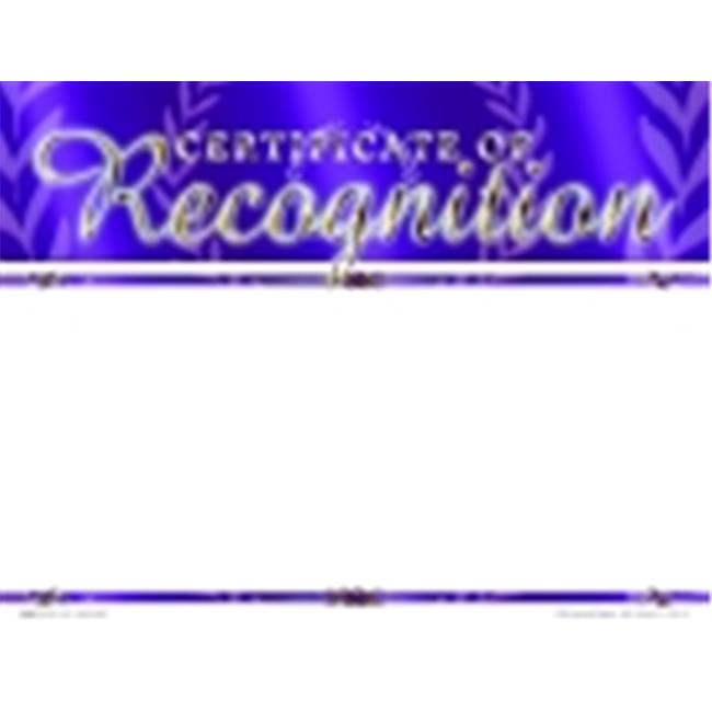 School Specialty Certificate Of Recognition Focus Award - Blank Item, Pack - 25