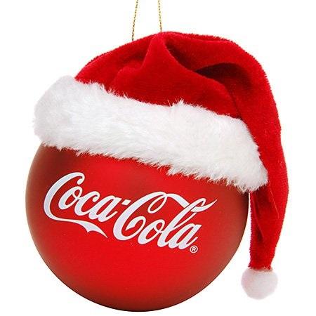 kurt adler coca-cola red ball with santa hat ornament - Walmart.com 53059b34092